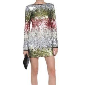 Elizabeth & James Rainbow Sequin Short Dress EUC